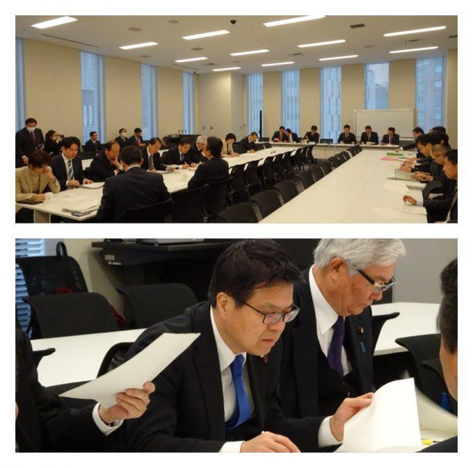 外交防衛部門会議と、経済産業・エネルギー合同部門会議