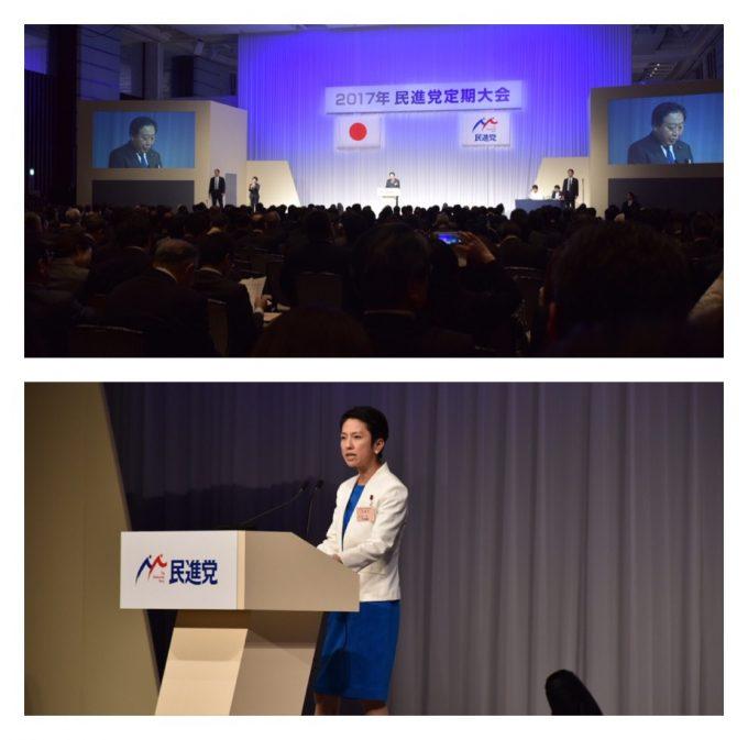 民進党2017年度民進党定期大会
