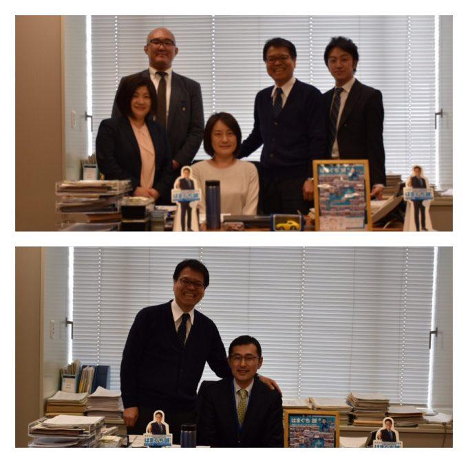 全トヨタ労連中島副事務局長と、トヨタ労組光田副委員長